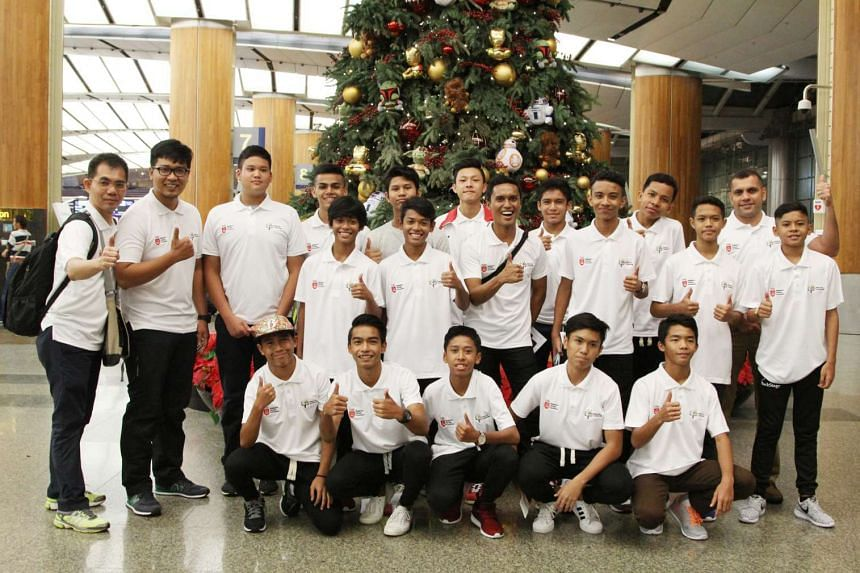 Youngsters off to Valencia: Seventeen young Singapore footballers - nine of them recipients of the Singapore Olympic Foundation-Peter Lim Scholarship - and four coaches are heading to Spanish club Valencia, where they will take part in a training cam