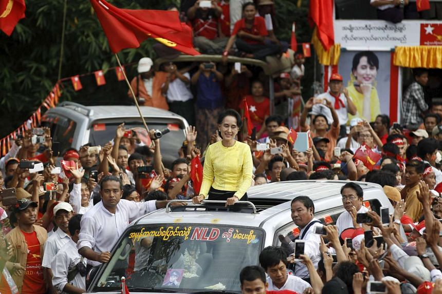 Aung San Suu Kyi is barred from becoming president because of a constitutional provision excluding those with foreign children from the top office.