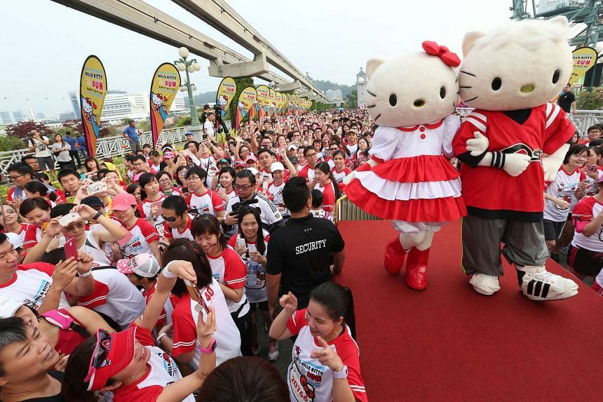 Participants at last year's Hello Kitty Run, which was held at Sentosa.