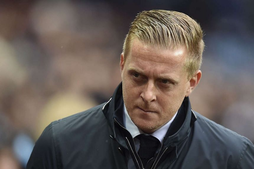 Garry Monk at the English Premier League football match between Aston Villa and Swansea City on Oct 24, 2015.