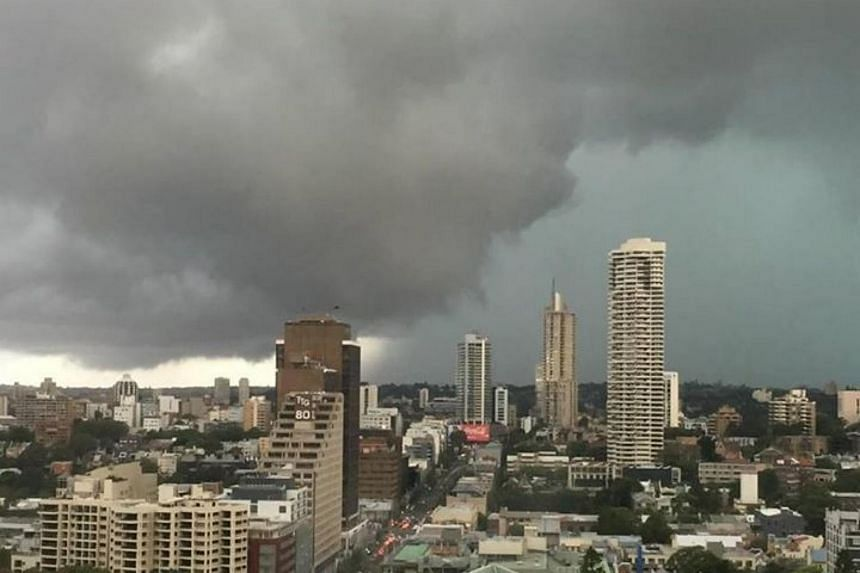 Dangerous thunderstorms were forecast to affect the city, Sydney Olympic Park, the Sydney Harbour Bridge and waters off Bondi Beach, Australia's Bureau of Meteorology said.