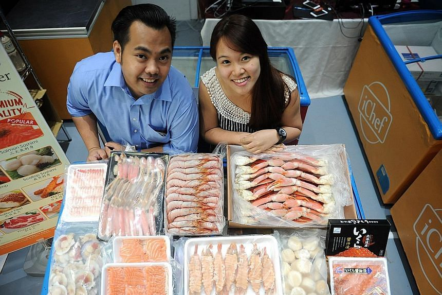 iChef's senior executive Jayson Ang and business development executive Lorelle Ang. iChef is owned by the Suki Group, which runs several restaurant franchises.