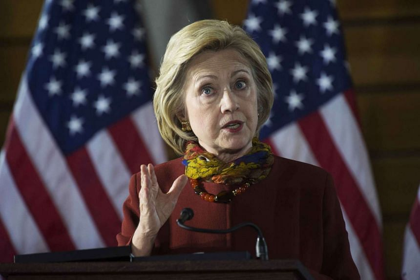 Democratic presidential candidate Hillary Clinton speaking about her counterterrorism strategy during a campaign stop in Minneapolis on Dec 15.