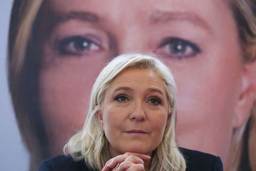 Le Pen (above) was accused of having no respect for the victims.