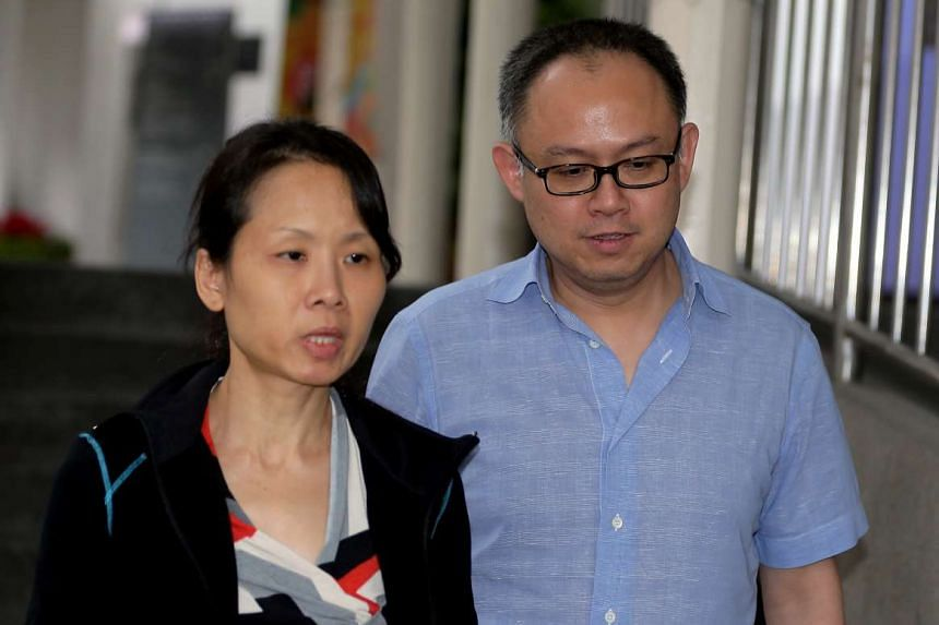 Chong Sui Foon (left) and her husband Lim Choon Hong on the third day of their trial.