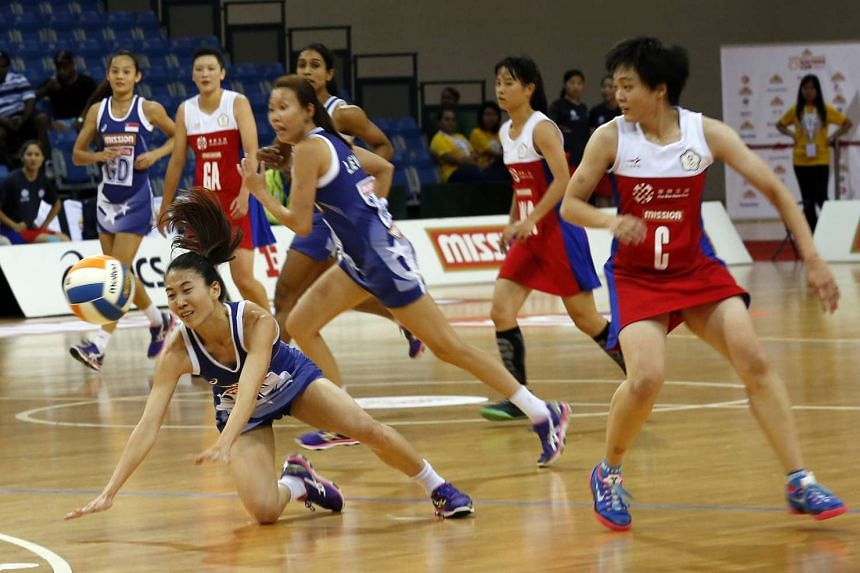 Singapore's netballers recorded their first victory in the week-long tournament beating Chinese Taipei at the Mission Foods Nations Cup on Dec 15, 2015.