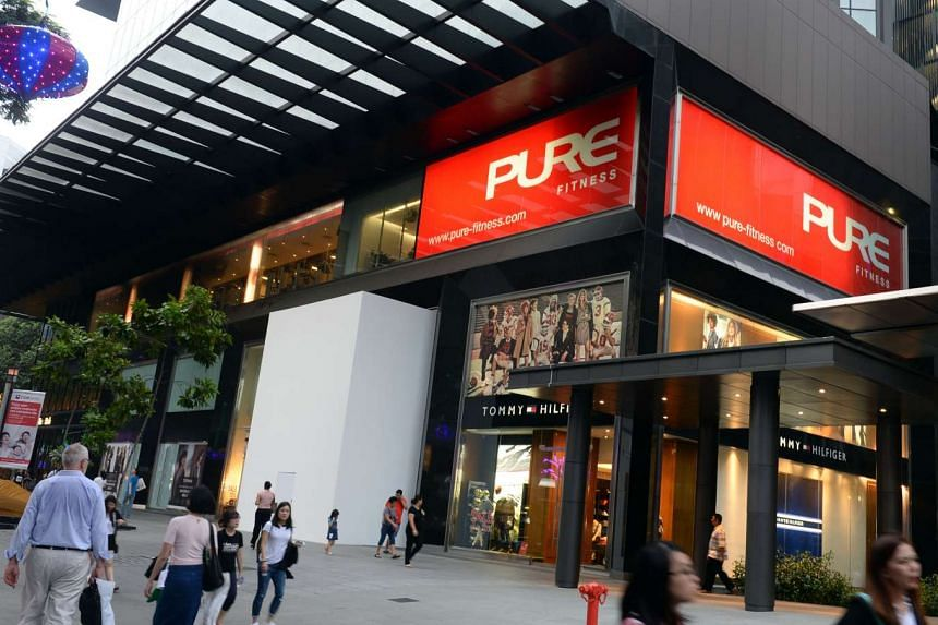 Some people were still working out at the 15,000 sq ft Pure Fitness gym in Knightsbridge mall in Orchard yesterday, before it was closed to make way for Singapore's first Apple Store.