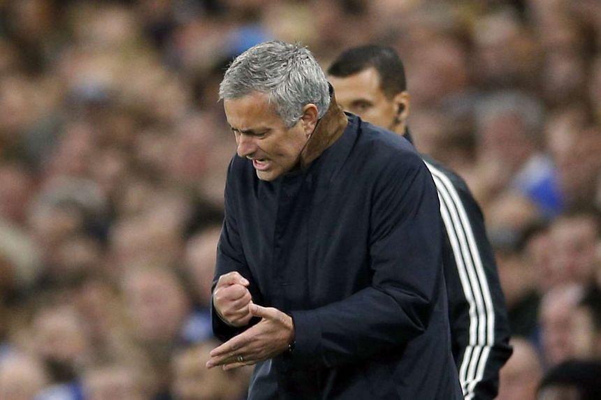 Jose Mourinho during Chelsea's match against Dynamo Kiev on Nov 4, 2015.