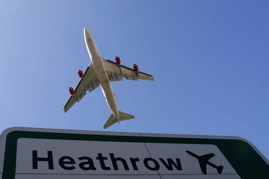 A man was taken to hospital after he repeatedly stabbed himself in the head at London's Heathrow airport.