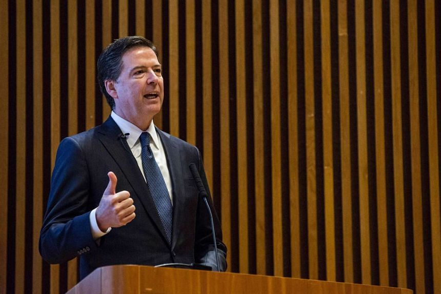 FBI Director James Comey speaking at the New York Police Department Shield Conference on Dec 16, 2015.