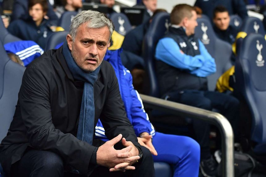 Jose Mourinho looking on before the English Premier League football match between Tottenham Hotspur and Chelsea on Nov 29, 2015.