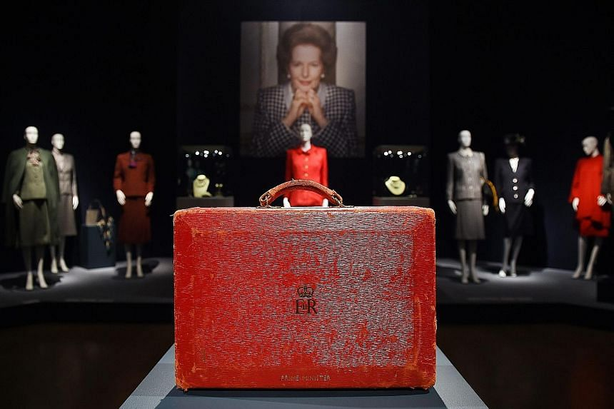 The late British prime minister Margaret Thatcher's famous red ministerial box sold for $514,100.