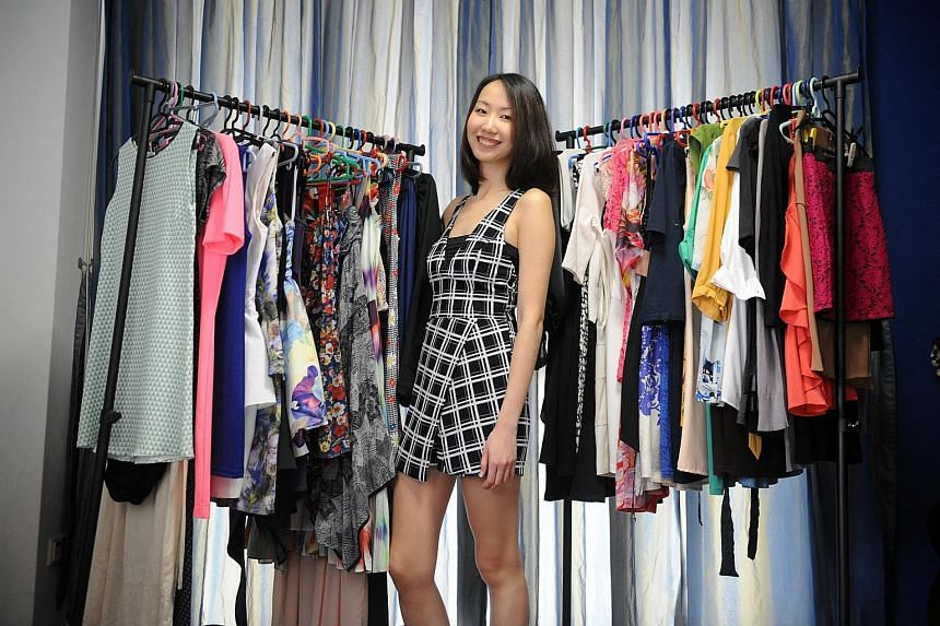 Clothes with interesting silhouettes attract Lai Shanru (above).