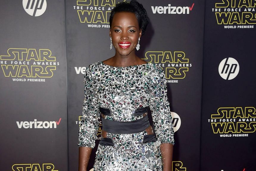 On the red carpet at the world premiere of Star Wars: The Force Awakens on Monday in California were stars such as actresses Daisy Ridley (left), Lupita Nyong'o (top) and newly wedded Sofia Vergara with her husband, actor Joe Manganiello (both above)