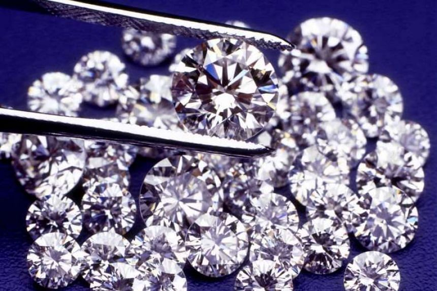 Polished De Beers diamonds in a file photo.