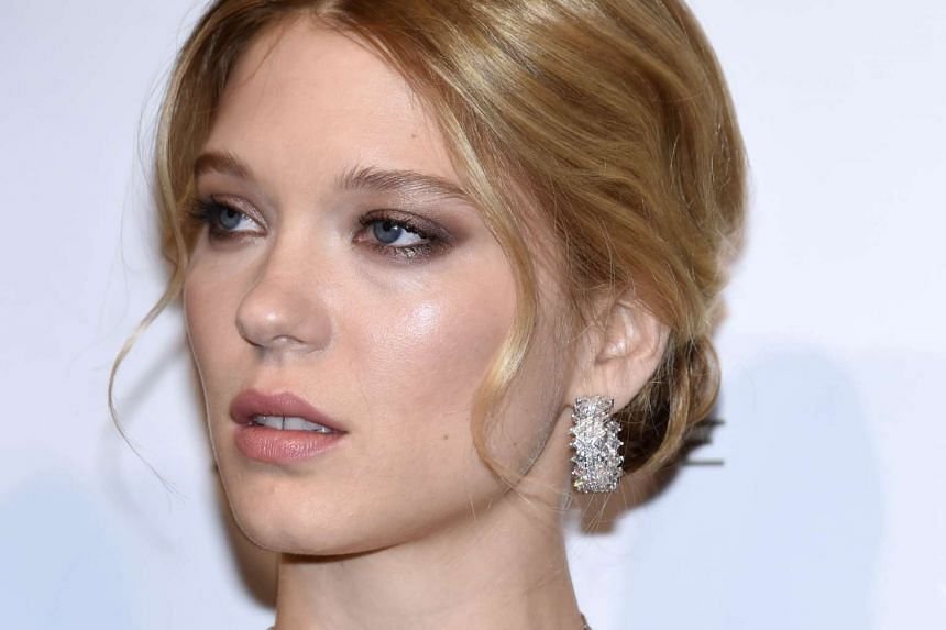 French actress Lea Seydoux at the premiere of the James Bond film Spectre in Paris on Oct 29.