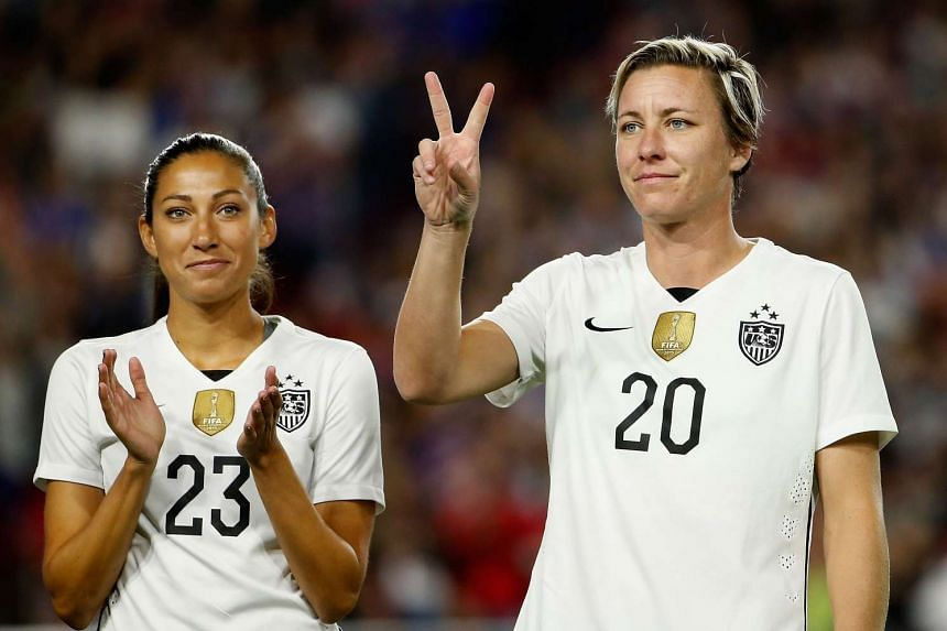 Abby Wambach #20 is introduced before the US women's soccer team beat China 2-0 in Arizona on Sunday.