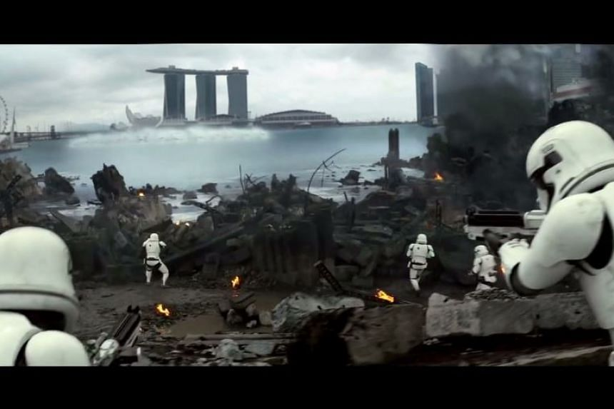 A screengrab from the video, which was created by animator Ivan Goh.