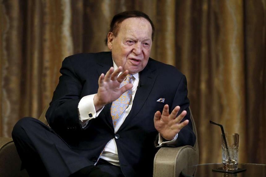 """Sheldon Adelson (above) describes Donald Trump as """"very charming""""."""