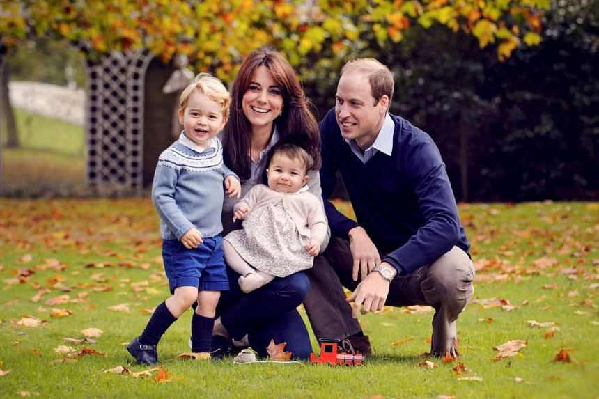 Prince William, his wife Kate and their children George and Charlotte in late October 2015.