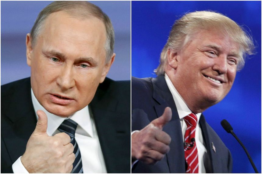 Russian President Vladimir Putin (left) and United States presidential candidate Donald Trump have praised each other.