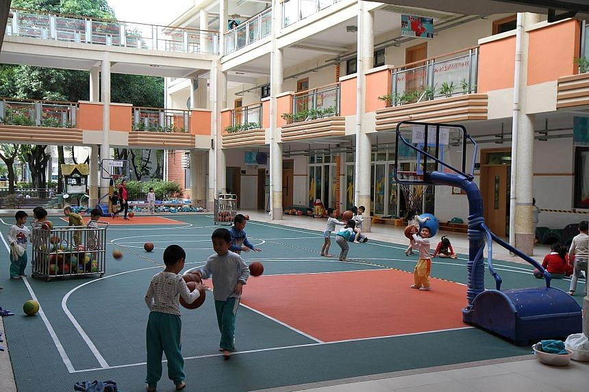 Green and sustainable: (above) Country Garden's headquarters in Shunde, Guangdong, and (left) the PYP Kindergarten of Guangdong Country Garden School in Shunde, an International Baccalaureate school the company set up in 1994.