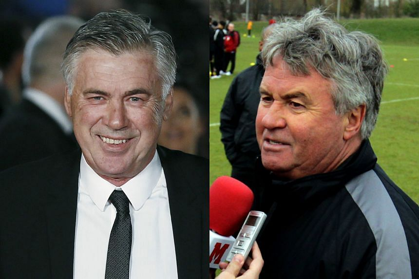 Carlo Ancelotti (left) and Guus Hiddink are contenders to return to Stamford Bridge on an interim basis.