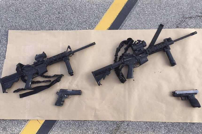 It is thought Marquez purchased the weapons (above) on behalf of Syed Farook.