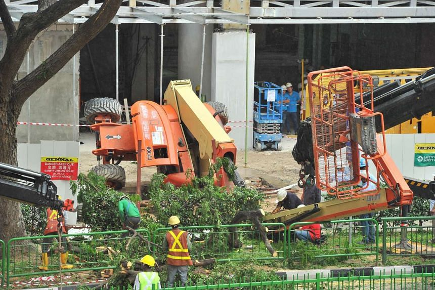 The boom lift was undergoing regular servicing work when it toppled.