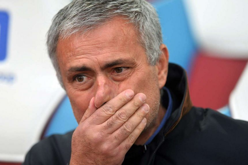 Chelsea manager Jose Mourinho before the start of a match against West Ham United at The Boleyn Ground in London on Oct 24.