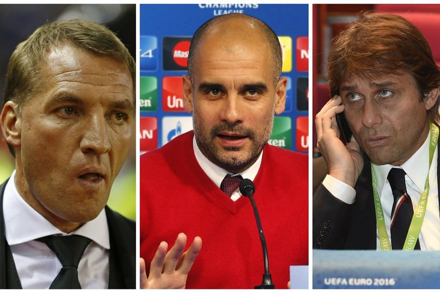 (From left) Brendan Rodgers, Pep Guardiola and Antonio Conte could be Mourinho replacements.