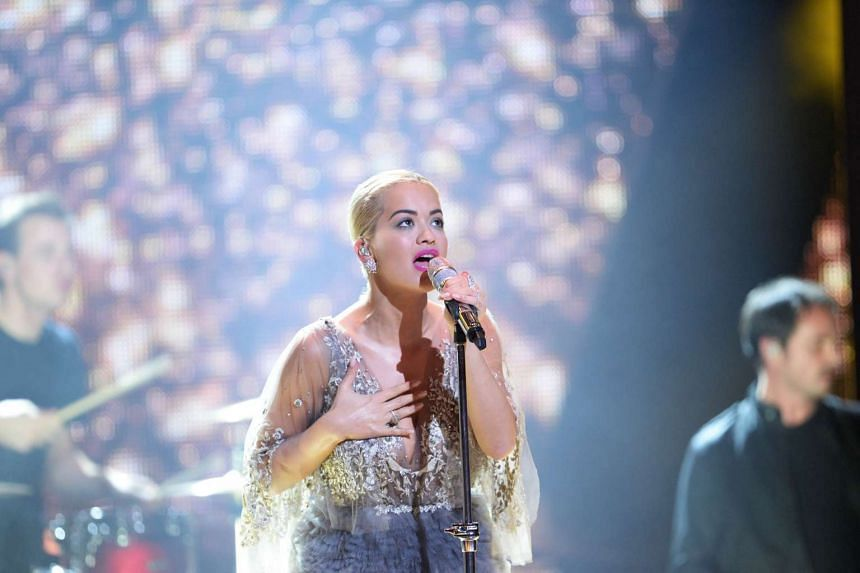 British singer Rita Ora performs at the Bambi awards on Nov 12, 2015 in Berlin.