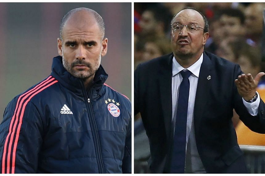 The spotlight is on Pep Guardiola (left) and Rafa Benitez.