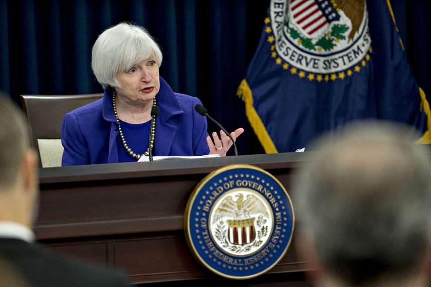 US Federal Reserve chairman Janet Yellen at a news conference following a Federal Open Market Committee meeting in Washington on Wednesday. Within a year of taking up the reins of the US Fed, the 69-year-old has drifted away from the policy followed