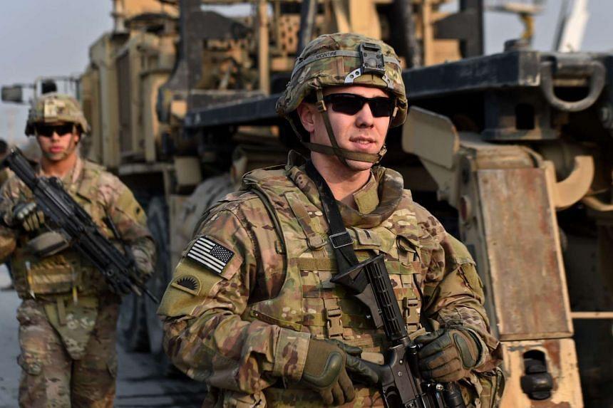 US soldiers in Kabul, Afghanistan, on Jan 5, 2015.