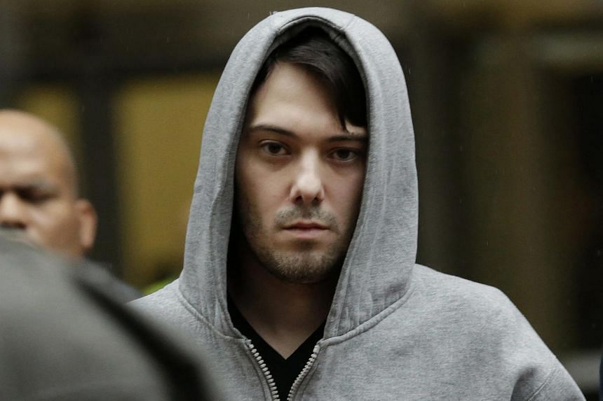 Martin Shkreli leaving federal court in New York on Dec 17.