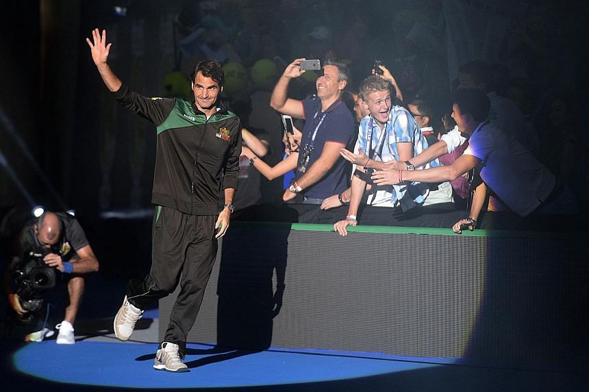 Tennis royalty Roger Federer is a natural crowd-pleaser at the Singapore Indoor Stadium with his playing style and personality.