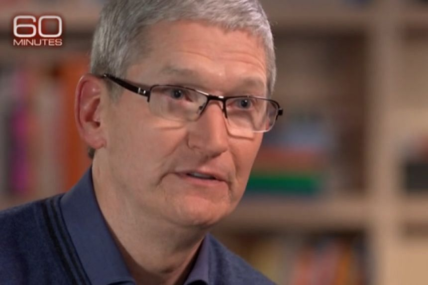 Tim Cook in a screenshot talking about Apple paying tax on 60 Minutes.