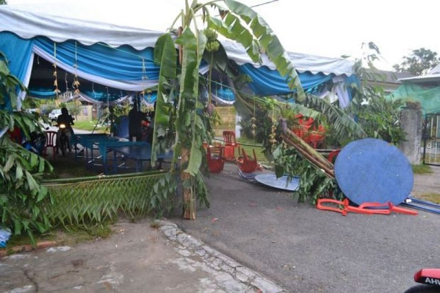 The wedding reception where the incident took place in 2013.