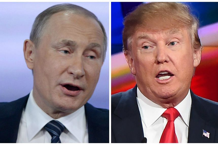 Putin (left) is a fan of Trump, who has now voiced a mutual appreciation of the Russian leader.