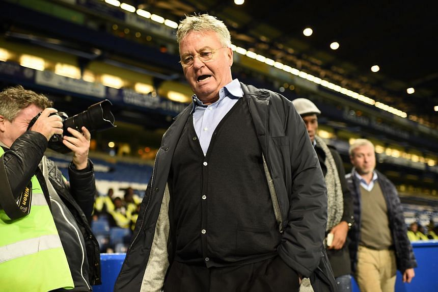 New Chelsea manager Guus Hiddink after the match between Chelsea and Sunderland.
