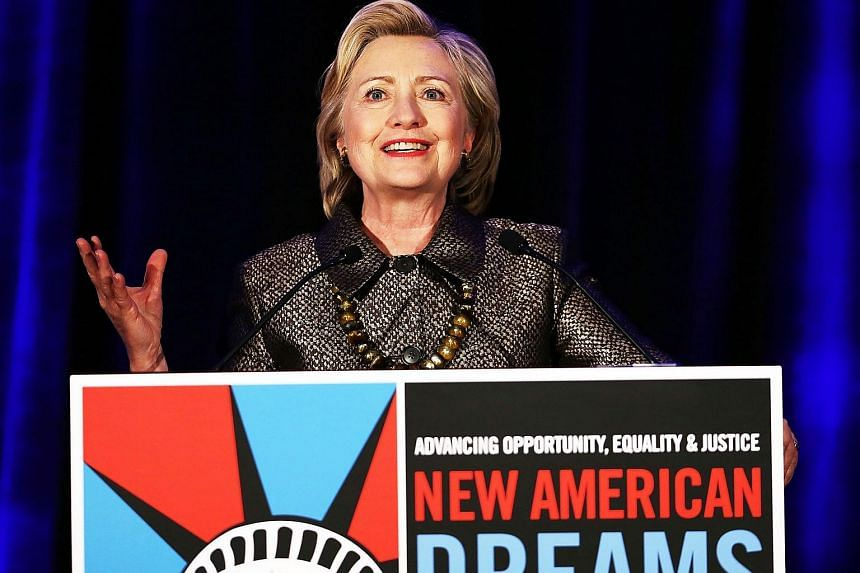 Democratic presidential candidate Hillary Clinton speaks during the National Immigrant Integration Conference on Dec 14, 2015, in New York City.