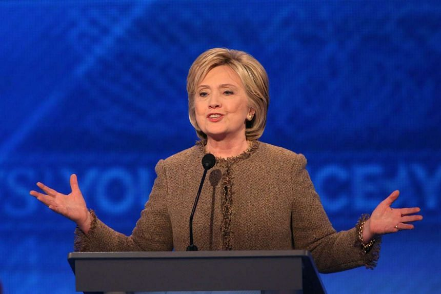 Democratic presidential candidate Hillary Clinton speaking during a debate in Manchester, New Hampshire, on Dec 19, 2015.