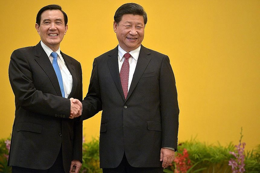 Singapore hosted the historic meeting between Taiwanese President Ma Ying-jeou (left) and Chinese President Xi Jinping on Nov 7.