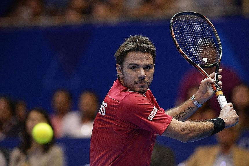 OUE Singapore Slammers' Stan Wawrinka started slowly against Micromax Indian Aces' Bernard Tomic but eventually found his groove to prevail 6-5.