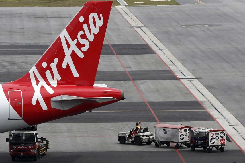 An AirAsia jet at Kuala Lumpur International Airport in Sepang in a June 2015 file photo.