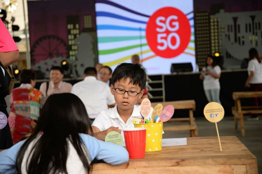 A Singaporean boy at the opening of #SG50inManila fair on Dec 20, 2015.