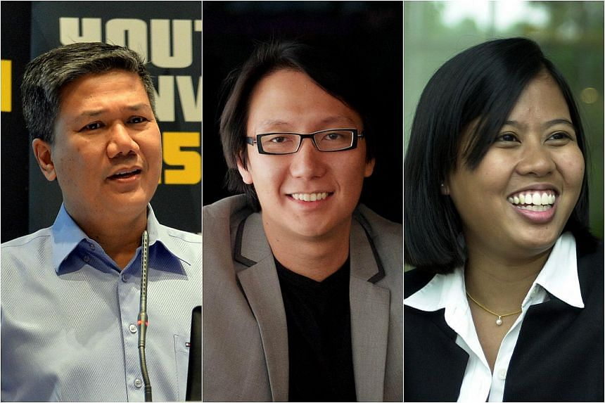 (From left) Azmoon Ahmad, Edward Chia and Mariam Jaafar will be part of a 30-member committee that will develop economic strategies for Singapore's future.