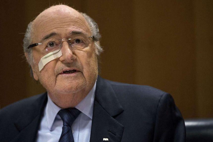 Suspended Fifa president Sepp Blatter speaking during a press conference in Zurich, Switzerland, on Dec 21, 2015.