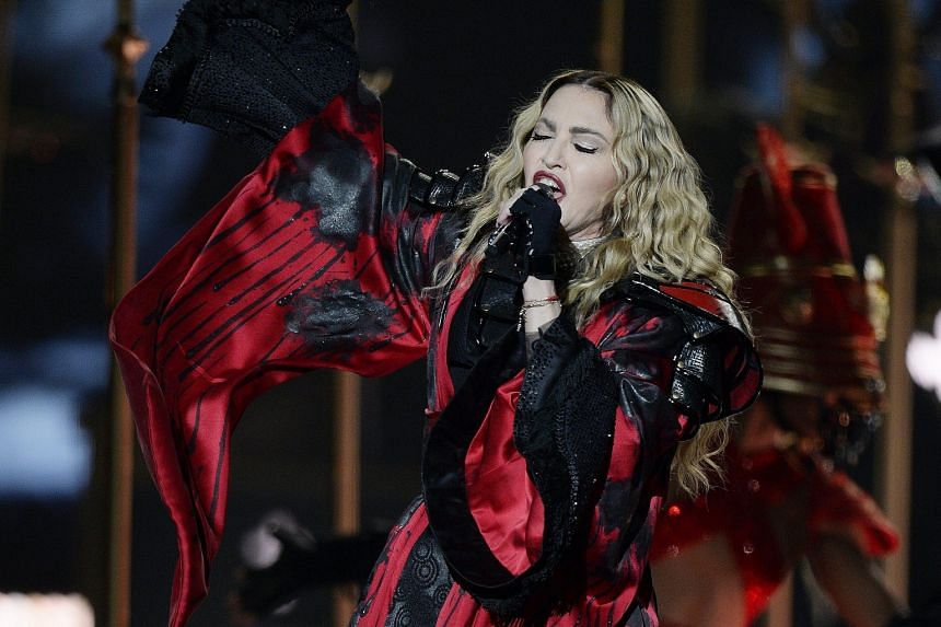 Madonna performing in Zurich on her Rebel Heart Tour.
